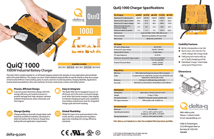 quiq 1000 industrial battery charger delta q technologies Powerwise Charger Wiring Diagram for full specifications, please download the quiq 1000 battery charger specification sheet