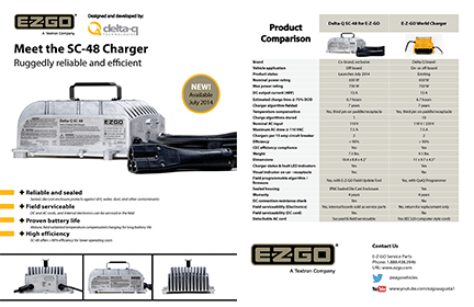 sc charger for e z go delta q technologies for full specifications please the sc 48 charger for e z go specification sheet