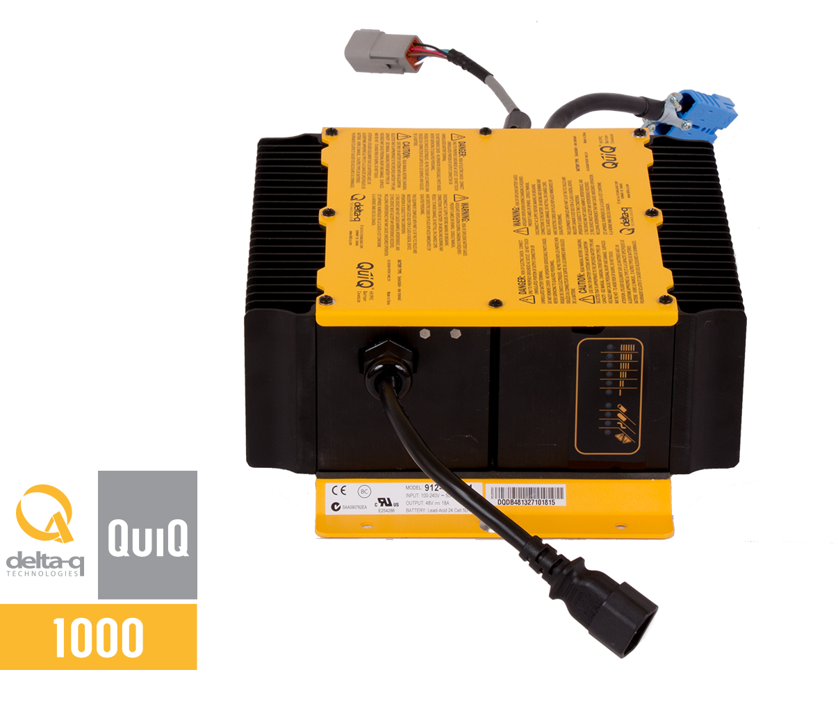 QuiQ 1000 Front quiq 1000 industrial battery charger delta q technologies quiq battery charger wiring diagram at fashall.co