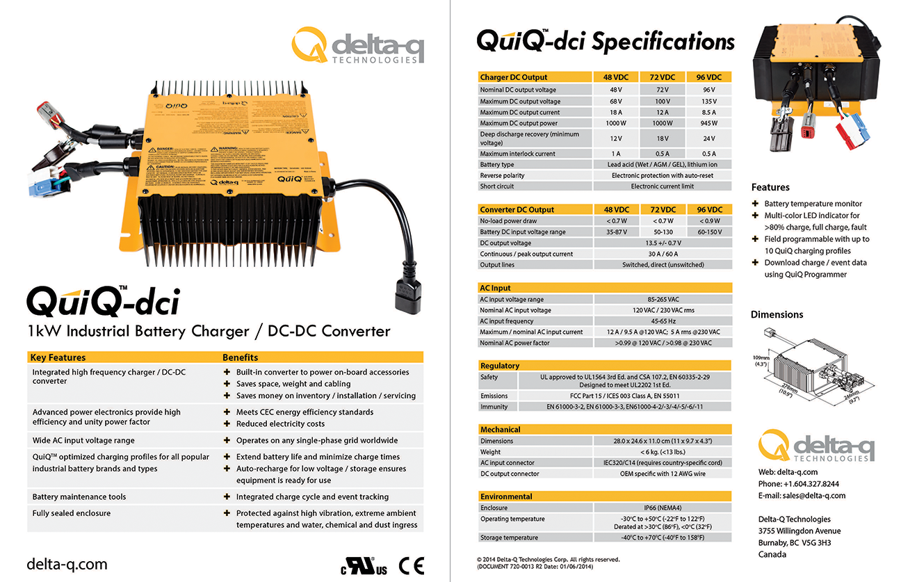 for full specifications, please download the quiq-dci 1000 battery charger-dc-dc  converter specification sheet